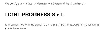 ISO-13485 Certification for the Quality Management System for Medical Devices