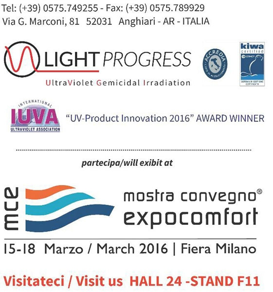 Light Progress is at MCE 2016, Milano